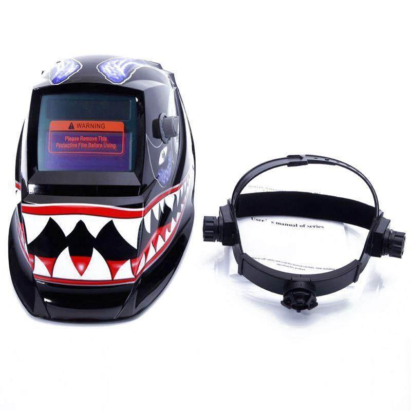 Welding Helmet for Solar Auto Darkening Shark Pattern Hood Adjustable Shade Range 4/9-13 Weld/Grinding Welder Protective Gear Arc