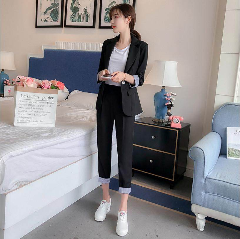 Casual Suit Suit Fashion Tooling Anti-Wrinkle Suit Two-Piece Suit By Nantang Boutique Store.