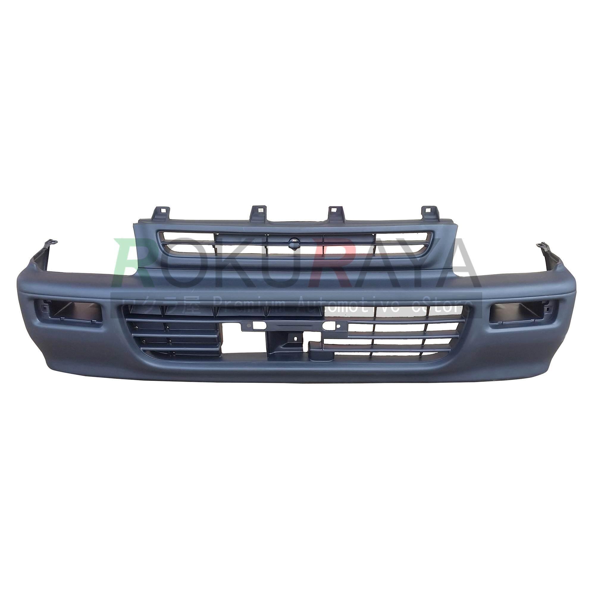 Perodua Kancil Old Square Head Lamp (1994 Model 660) Oem Standard Front Bumper Polypropylene Pp Plastic Body Part Oem Replacement Spare Part - Black By Automart Rr.