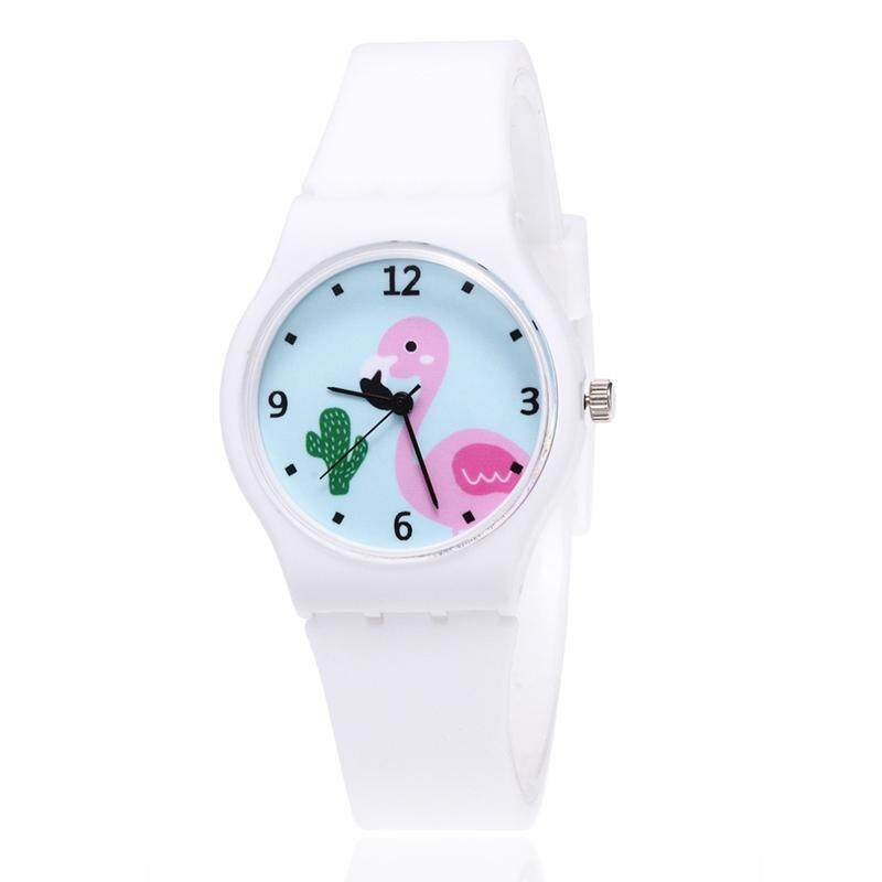 SYS New Silicone Candy Color Student Watch Girls Fashion Flamingo Watches Cartoon Kids Quartz Watch Malaysia
