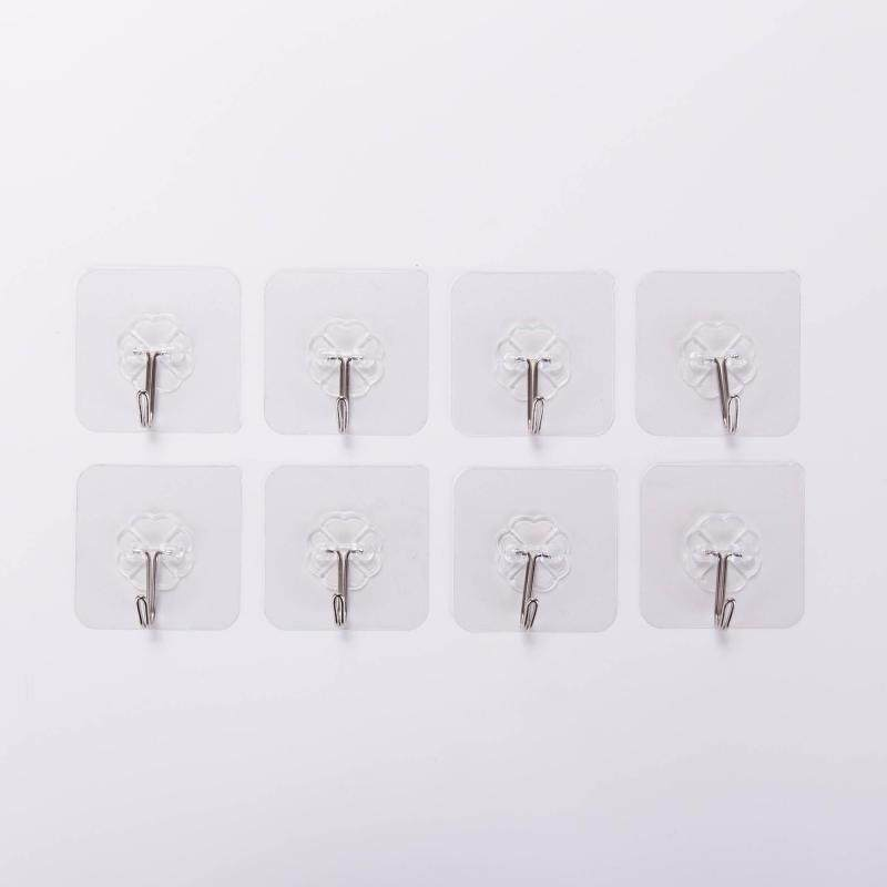 20 Pcs Strong Traceless Punch-free Stainless Steel Hook White