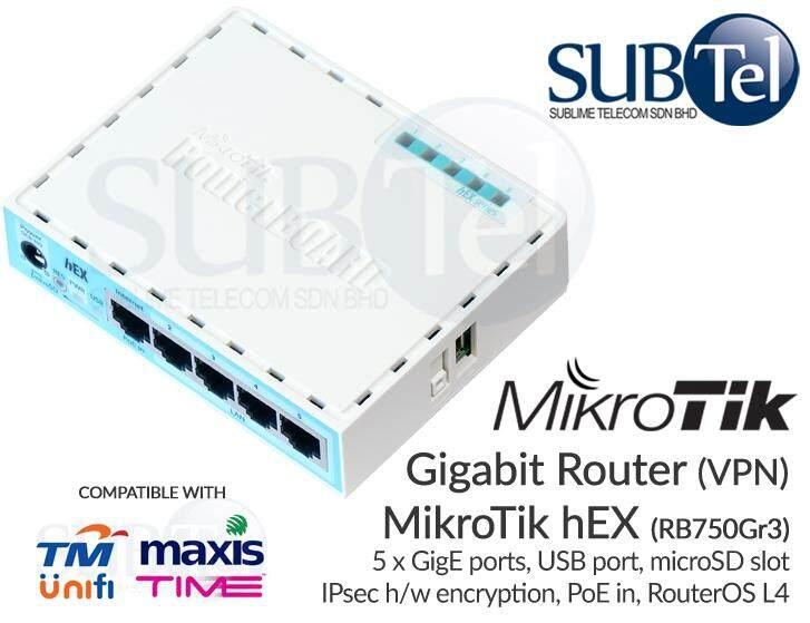 Mikrotik RB750Gr3 hEX Gigabit Router 5 port VPN hardware accelerated IPSec  encryption