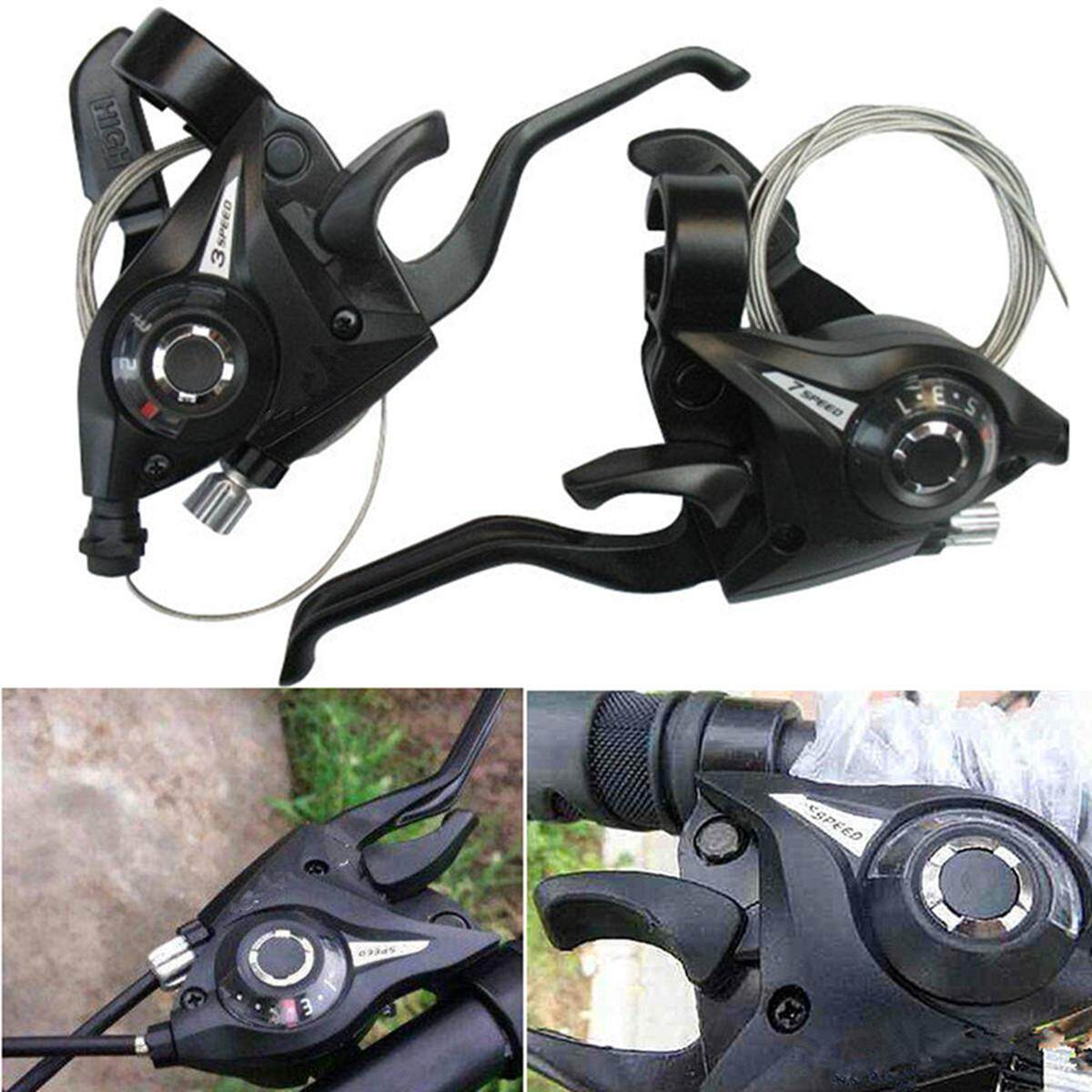 1 Pair 3x7 21speed Mtb Bike Bicycle Trigger Gear Shifters With Inner Shift Cable By Channy.