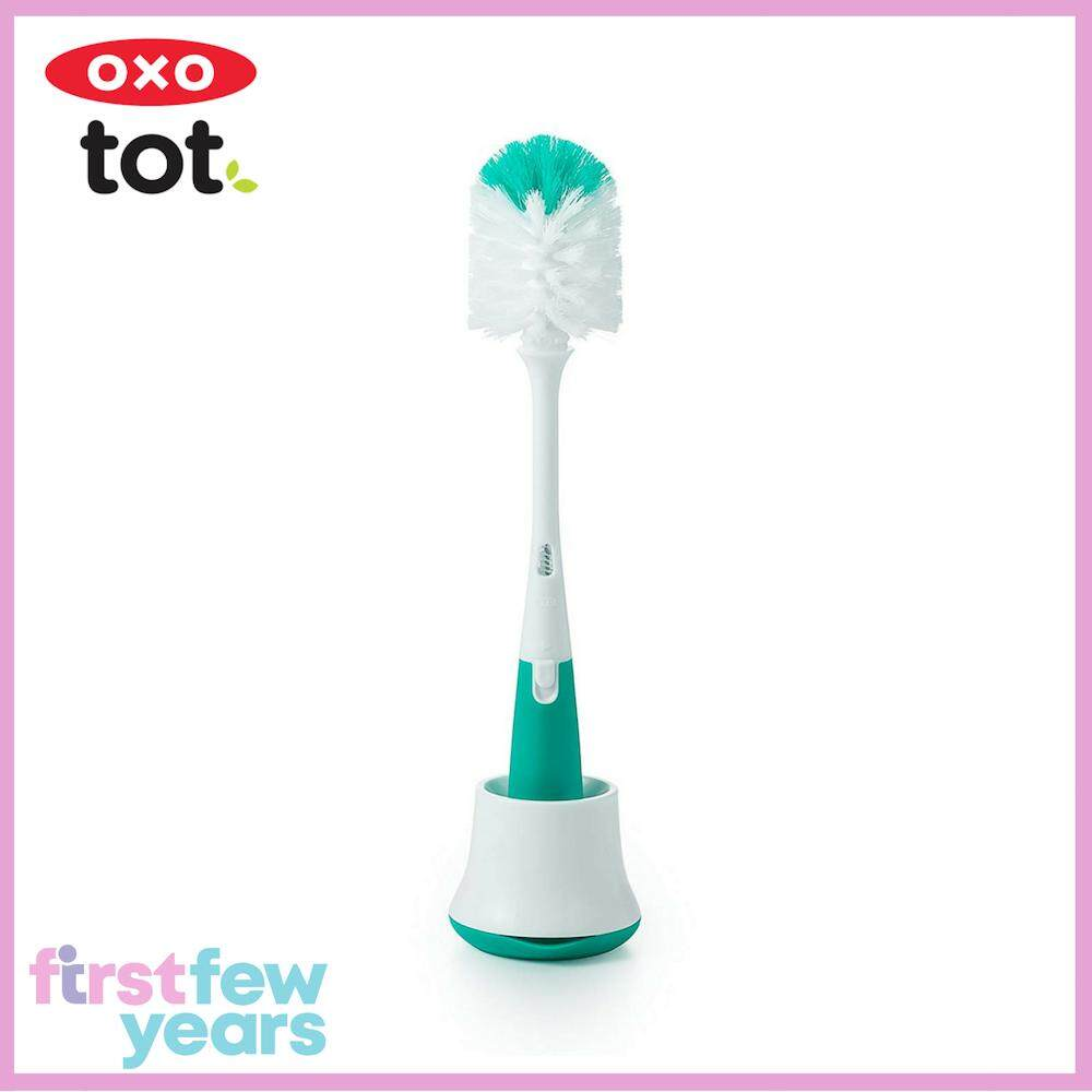 Oxo Tot Bottle Brush With Stand - Teal By First Few Years