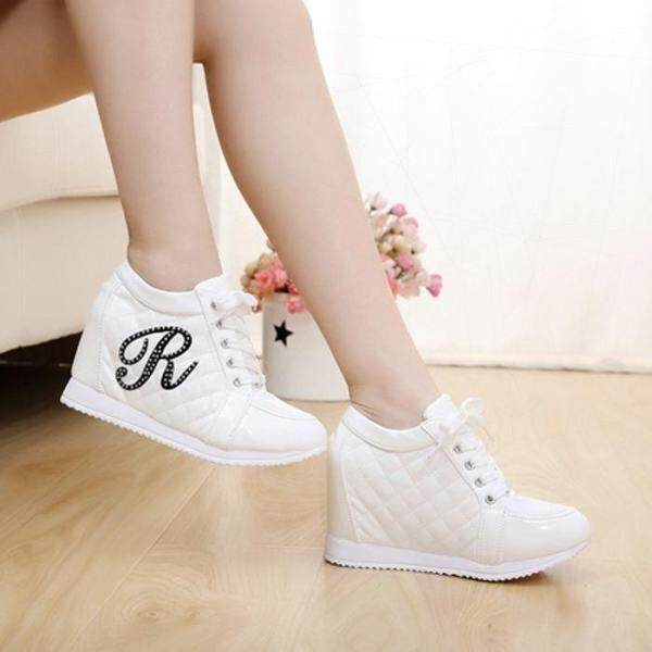 Rushsky 6 Cm Sneakers Plateform Wedge Shoes -White - Intl By Furopwwqq.