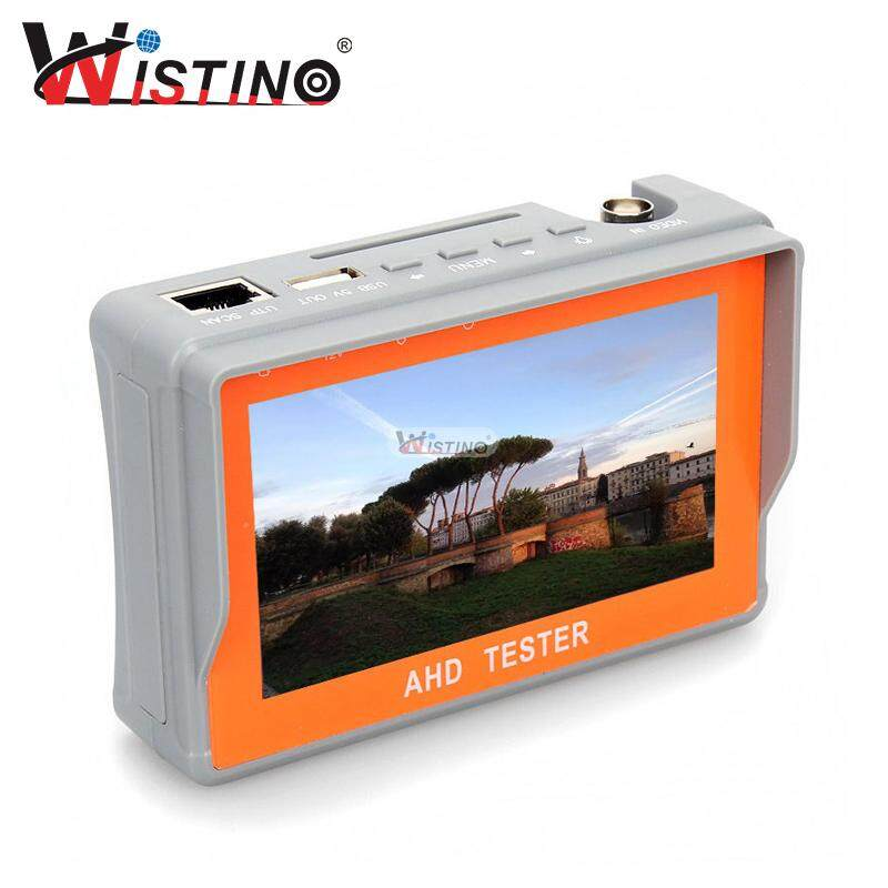Wistino 4.3 Inch Hd Ahd Tvi Cctv Camera Tester Audio 12v1a 5v2a Monitor Utp Cable Test 1080p 720p Surveillance Tester Output By Wistino Store.