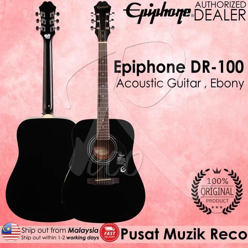 Epiphone DR-100 EB Acoustic Guitar - Ebony Malaysia