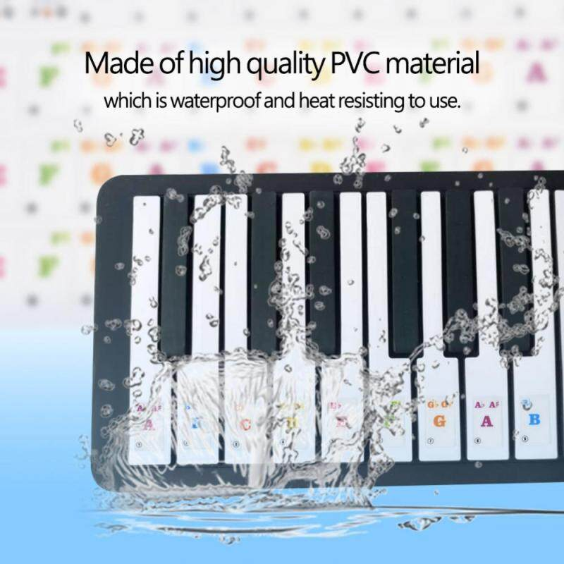 big sale & ready stock 2Colors Removable Piano Musical Keyboard Key Stickers for Kids Beginners Practice Training Malaysia