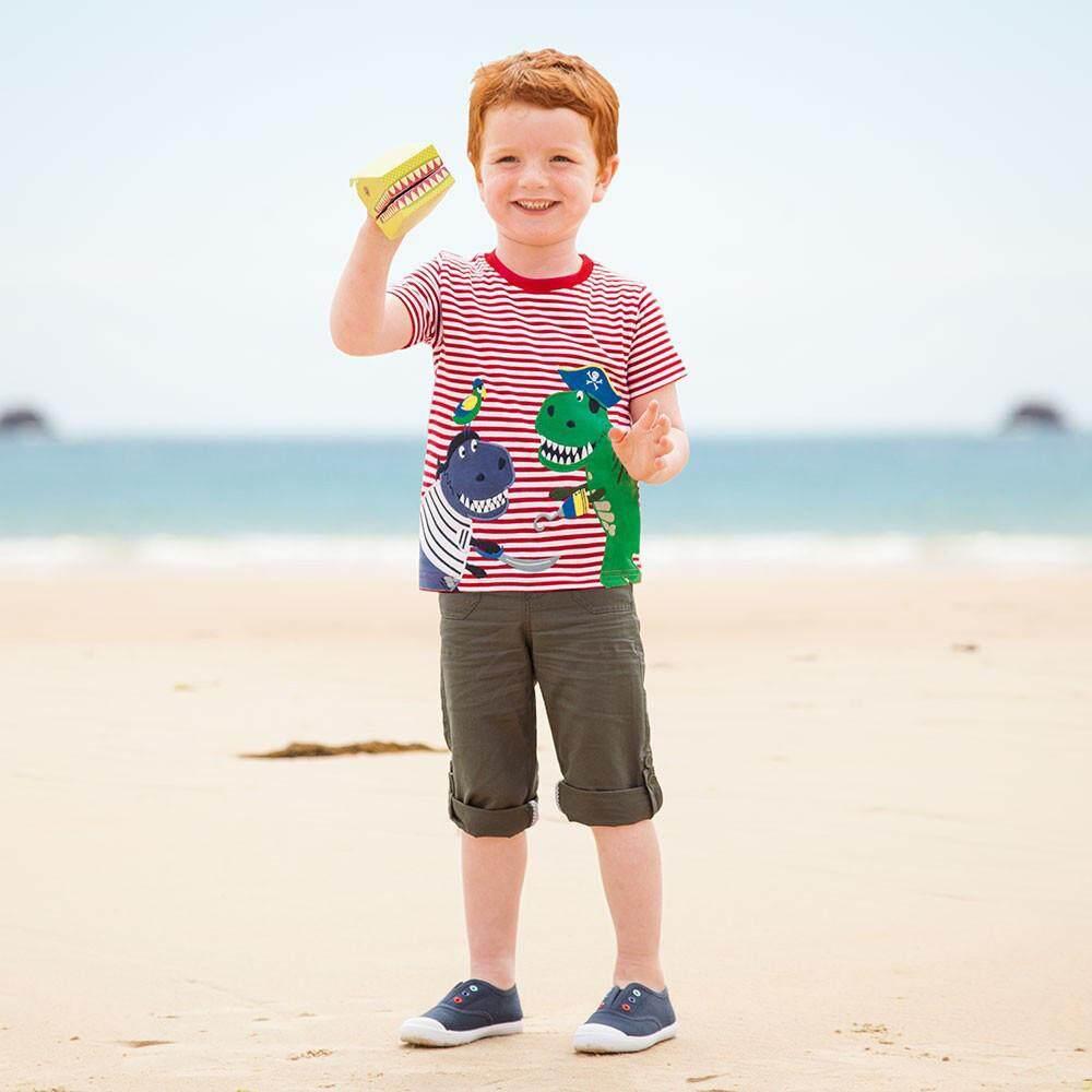 Ormondshop Toddler Kids Baby Boys Clothes Short Sleeve Cartoon Pattern Tops T-Shirt Blouse By Ormondshop.