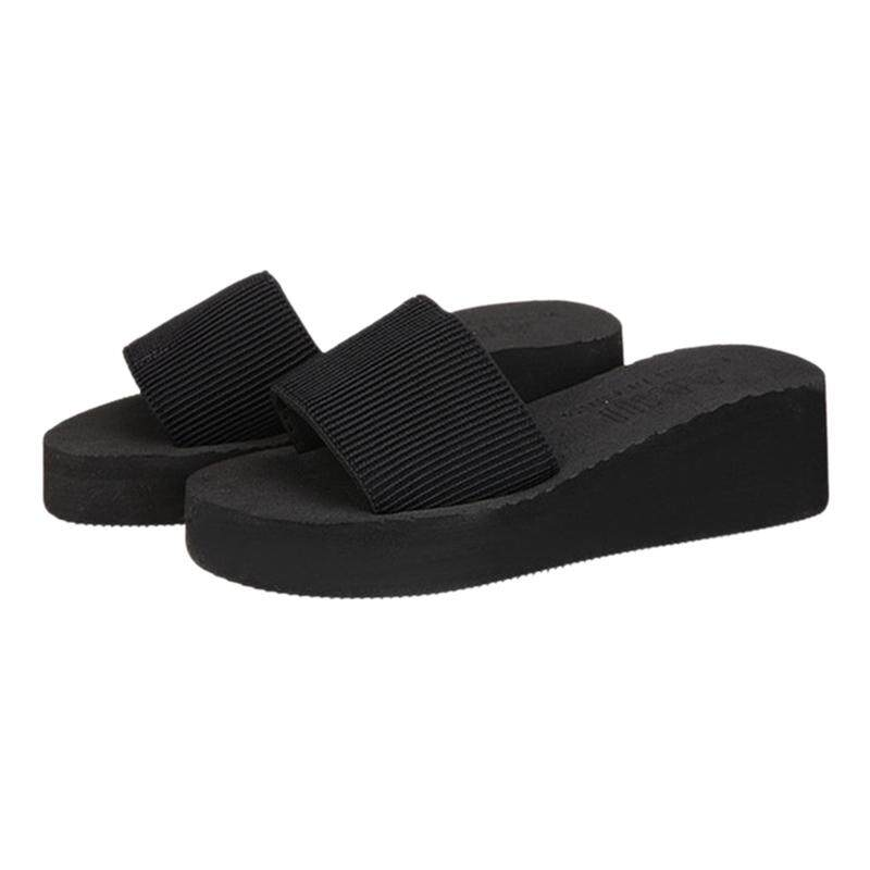 73701199a75a24 women summer sandals slippers flats beach shoes Black EU35