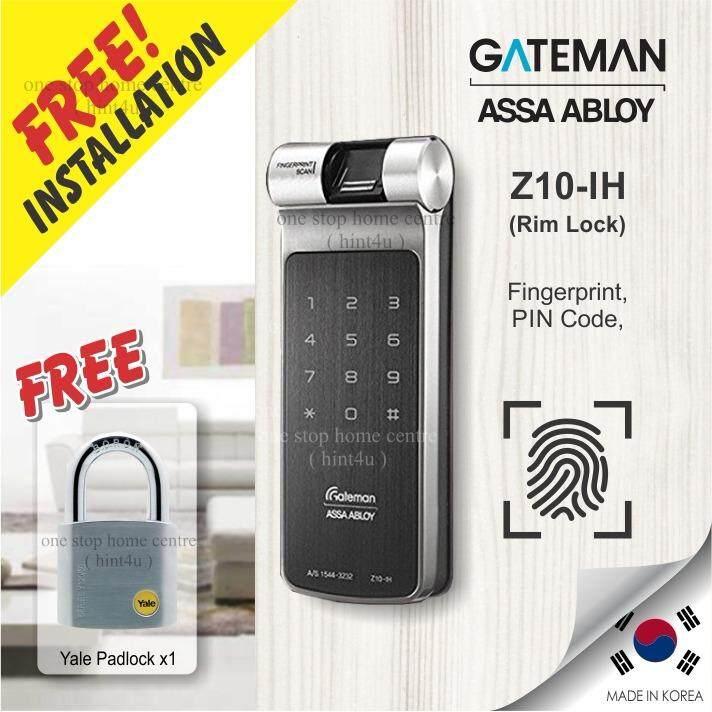 Free Install Klang Valley Area x1) Gift Yale padlock x1 Gateman Z10-IH  Fingerprint Digital Door Lock