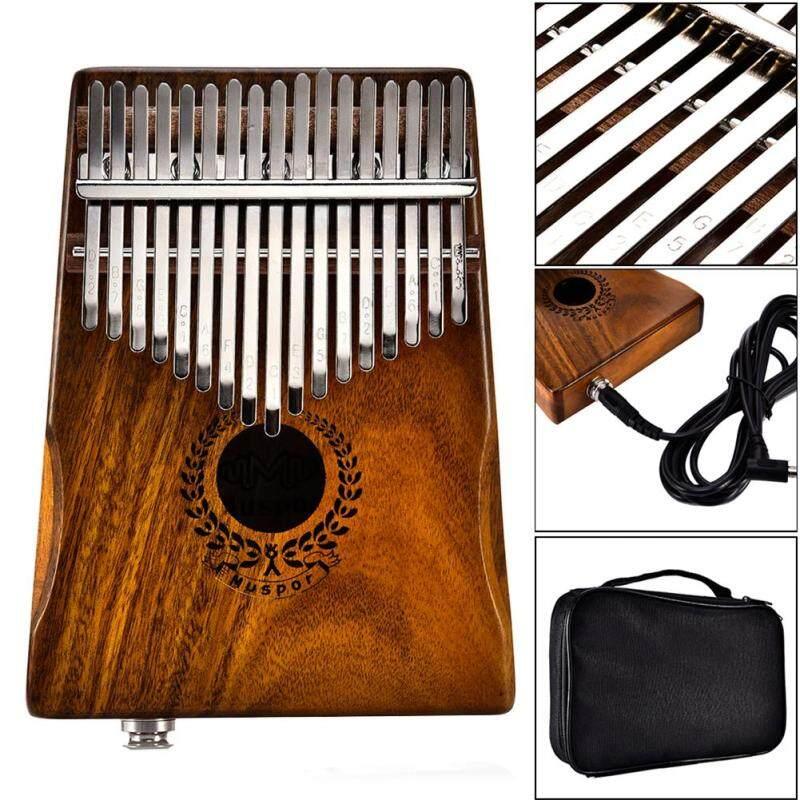 Hanks Mall 17 Keys EQ kalimba Acacia Thumb Piano Link Speaker Electric Pickup with Bag Cable Malaysia