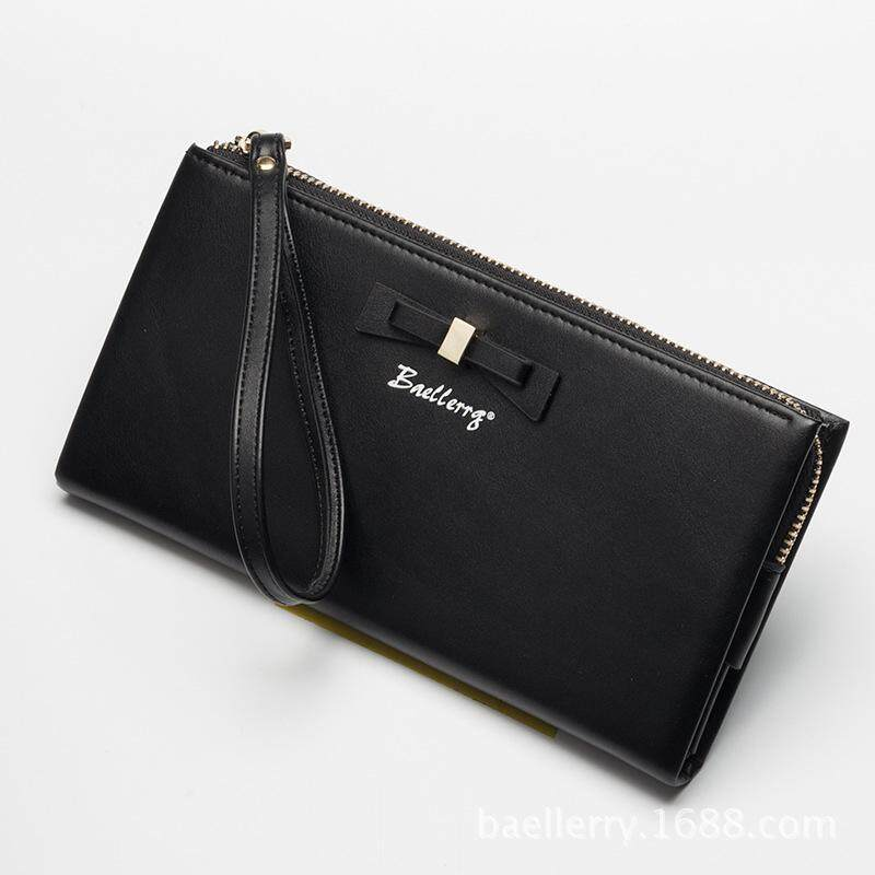 Baellerry New Arrival Bowknot Women Long Wallet Pu Leather Lady Clutch Portable Purse Card Holders