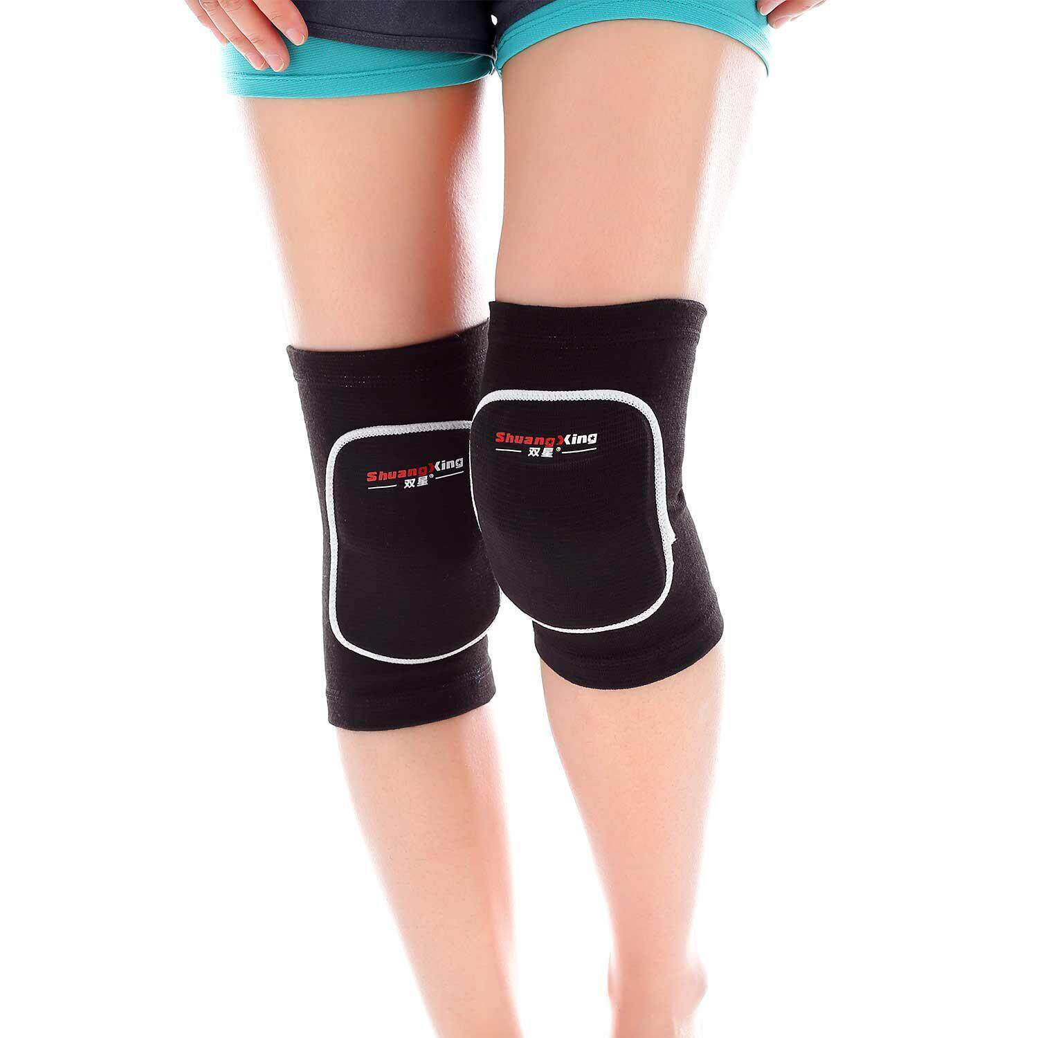 NiceToEmpty Knee Pads,Protective Thick Sponge Anti-Collision Kneepads Protector Non-slip Wrestling Dance Volleyball Knee Pads Support Sleeve for Outdoor Sport(1 Pair)