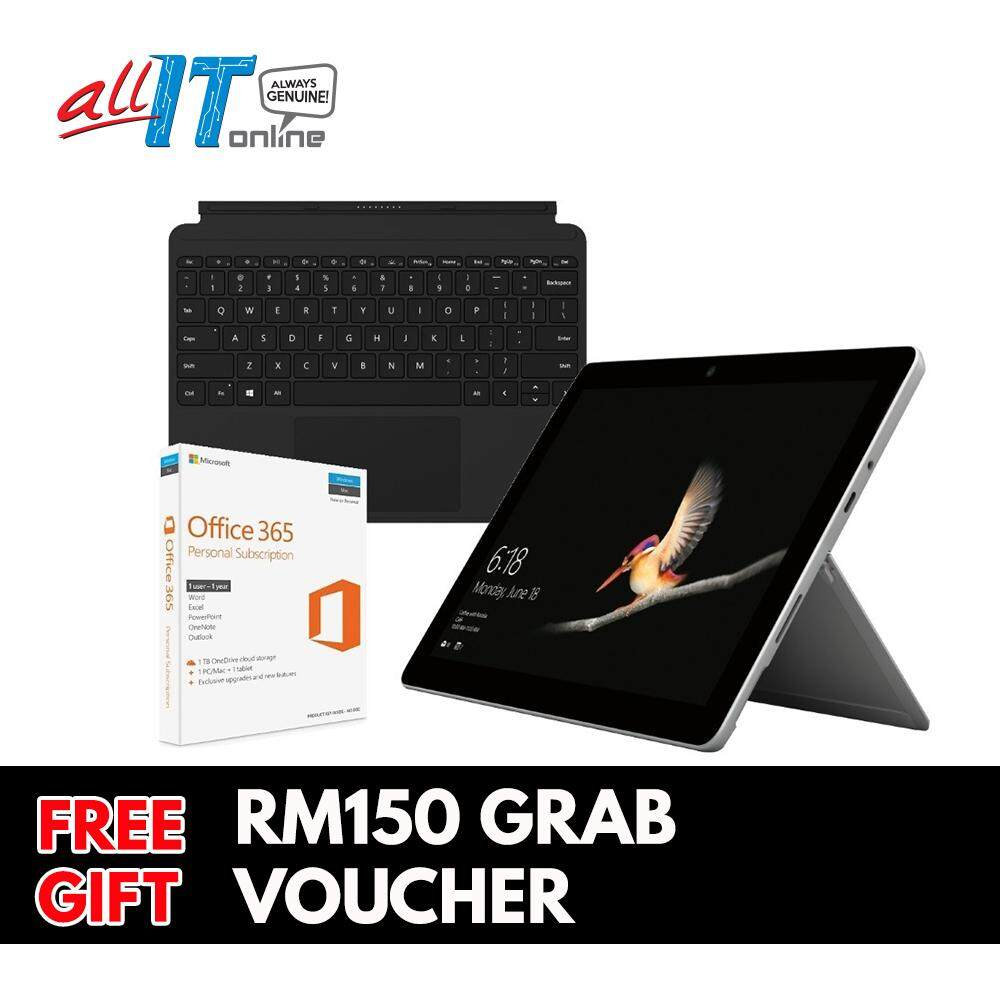 New Microsoft Surface Go [Intel 4415Y,4GB,64GB eMMC] Bundle With Type Cover + Office 365 Personal Malaysia
