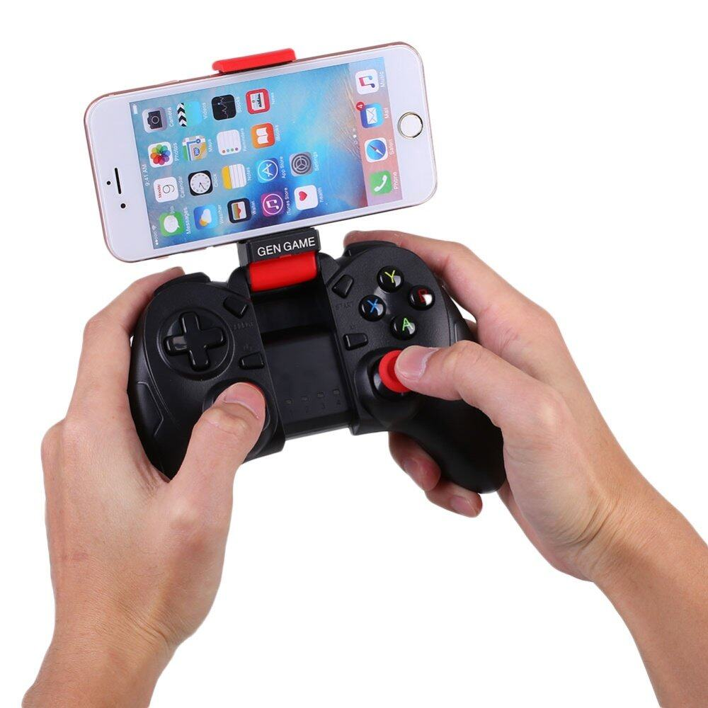 Gen Game S6 Bluetooth 3 0 Wireless Game Controller Gamepad Joystick  Android/IOS with Bulit-in PHONE HOLDER