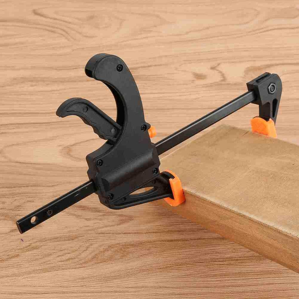 ZLOYI Portable Woodworking Tools 12 Inch F Type Fast Clips Wood Board Fixing Grip Heavy Duty Carpenter Adjustable Clamps