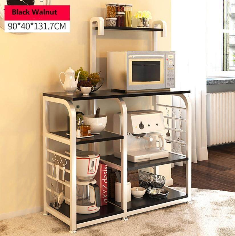 Forever Multi-Functional Double Kitchen Storage Shelves (almond/black Walnut) By Lp Kong Forever Lifestyle.
