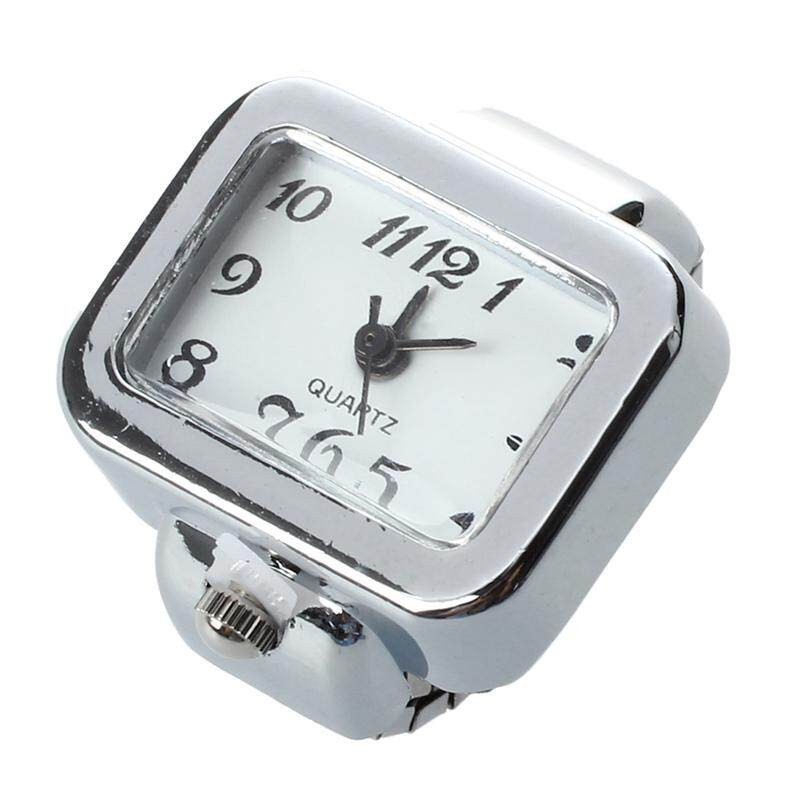 Quartz Watch Ring watch Digit Dial Arabic Rectangle White Unisex Jewelry Malaysia