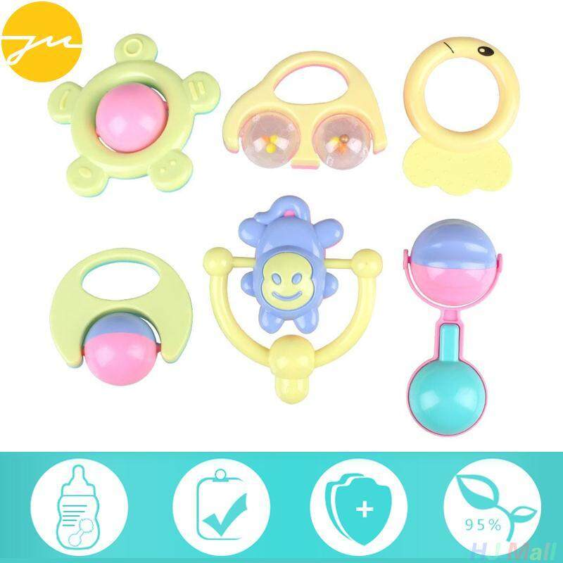 6pcs Baby Children Animal Handbells Developmental Lovely Toy Rattle Gift By Jingming Store.