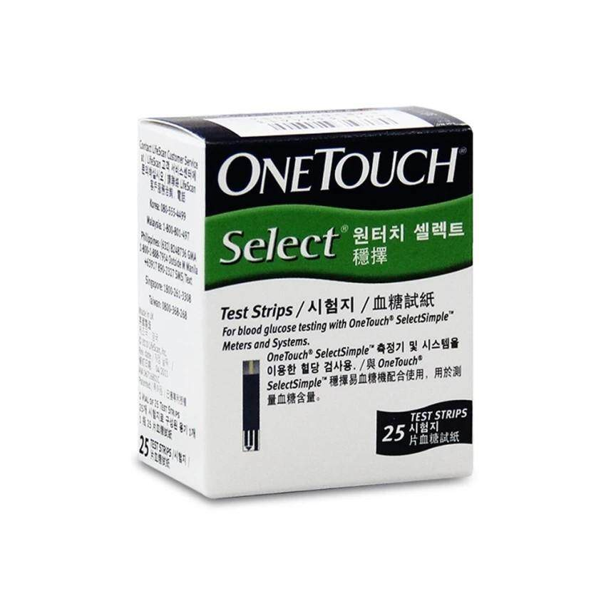 One Touch Select Simple Test Strip 25s Free 25s Round Lancet By Healthy Healthcare E-Store.