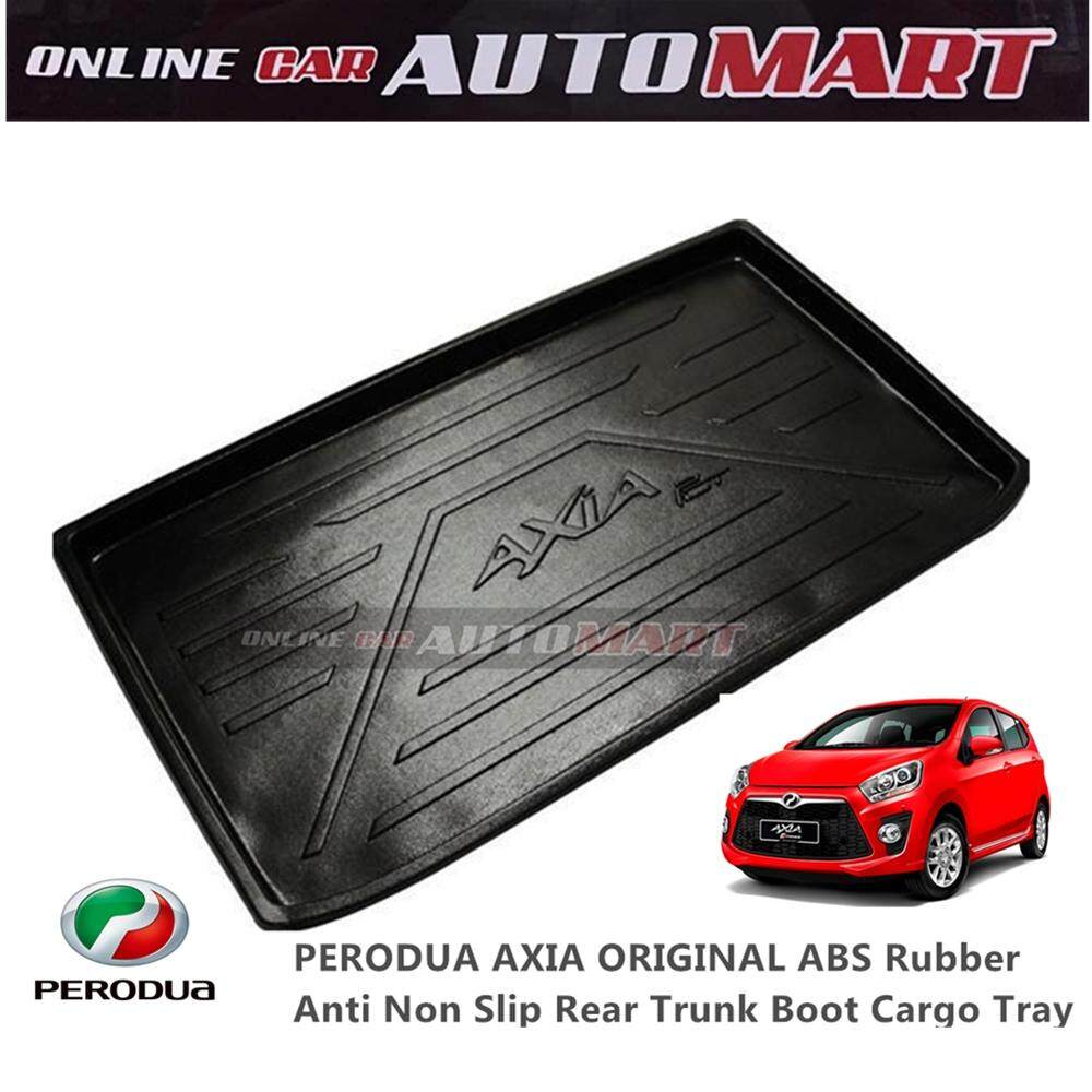 Custom Fit Original Abs Non Slip Rear Trunk Boot Cargo Tray - Perodua Axia (2014-2015) By Online Car Automart.
