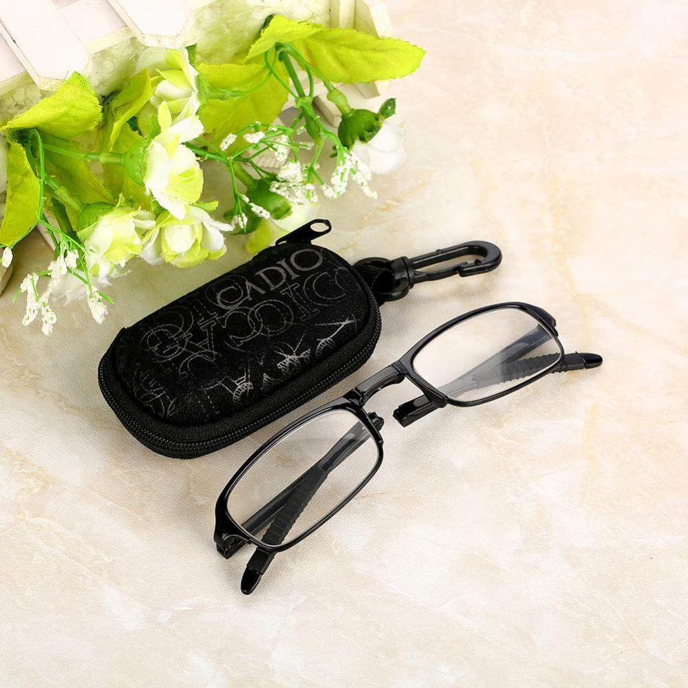 4cad7ded5b96 Unisex Portable Lightweight Foldable Ultra Thin Black Reading Presbyopic  Glasses (1.0)