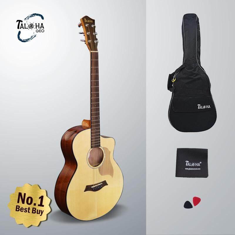 Taloha Geo Series G-100N 40 Inch Acoustic Guitar + Free Guitar Bag + Free Polishing Cloth + FREE 2 Picks Malaysia