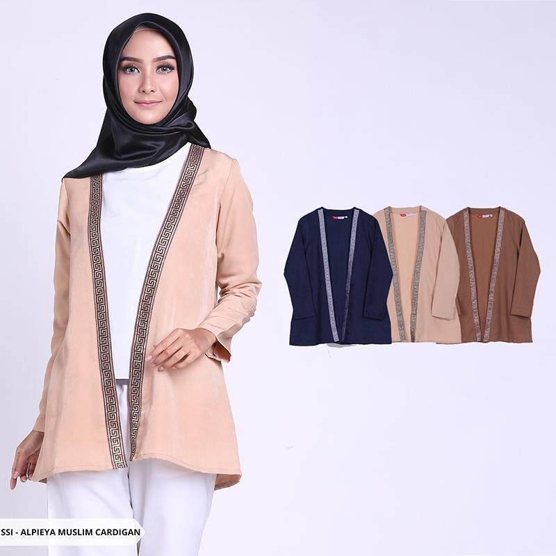 Alpieya Plain Casual Muslim Cardigan - Navy By Fashion House Official Export.