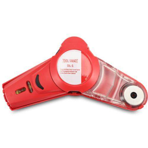 Drill Dust Collector with Laser Level (RED)