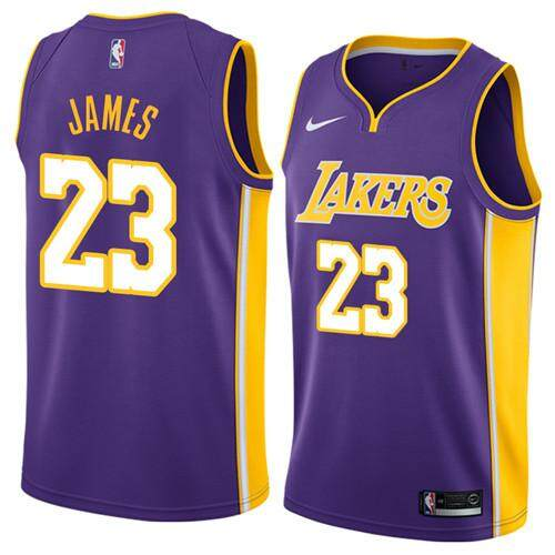 big sale 31aba 40150 Brand NKE Official MENS Los Angeles Lakers LeBron James #23 Purple Swingman  Basketball Jersey S-2XL