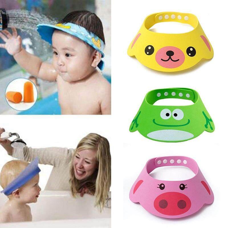 Soft Toddler Kids Baby Bath Hat Shower Shampoo Visor Hats Wash Hair Shie VDO