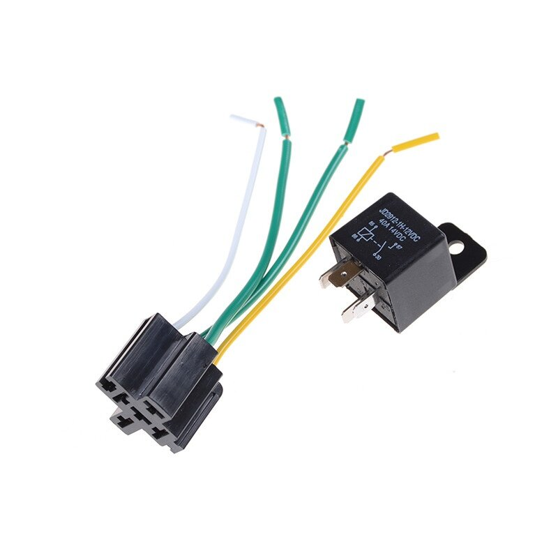 2set Car Auto DC 12V Volt 40A Automotive 4 Pin 4 Wire Relay & Socket  Prong Volt Relay Wiring on