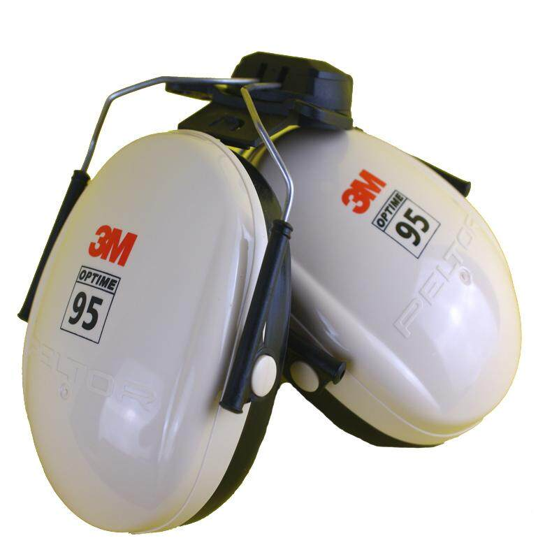 3M H6P3E Protective Earmuffs Safety Helmet Hanging Earmuff Noise Reduction Sound Insulation Hang Safety Helmet-Headphones