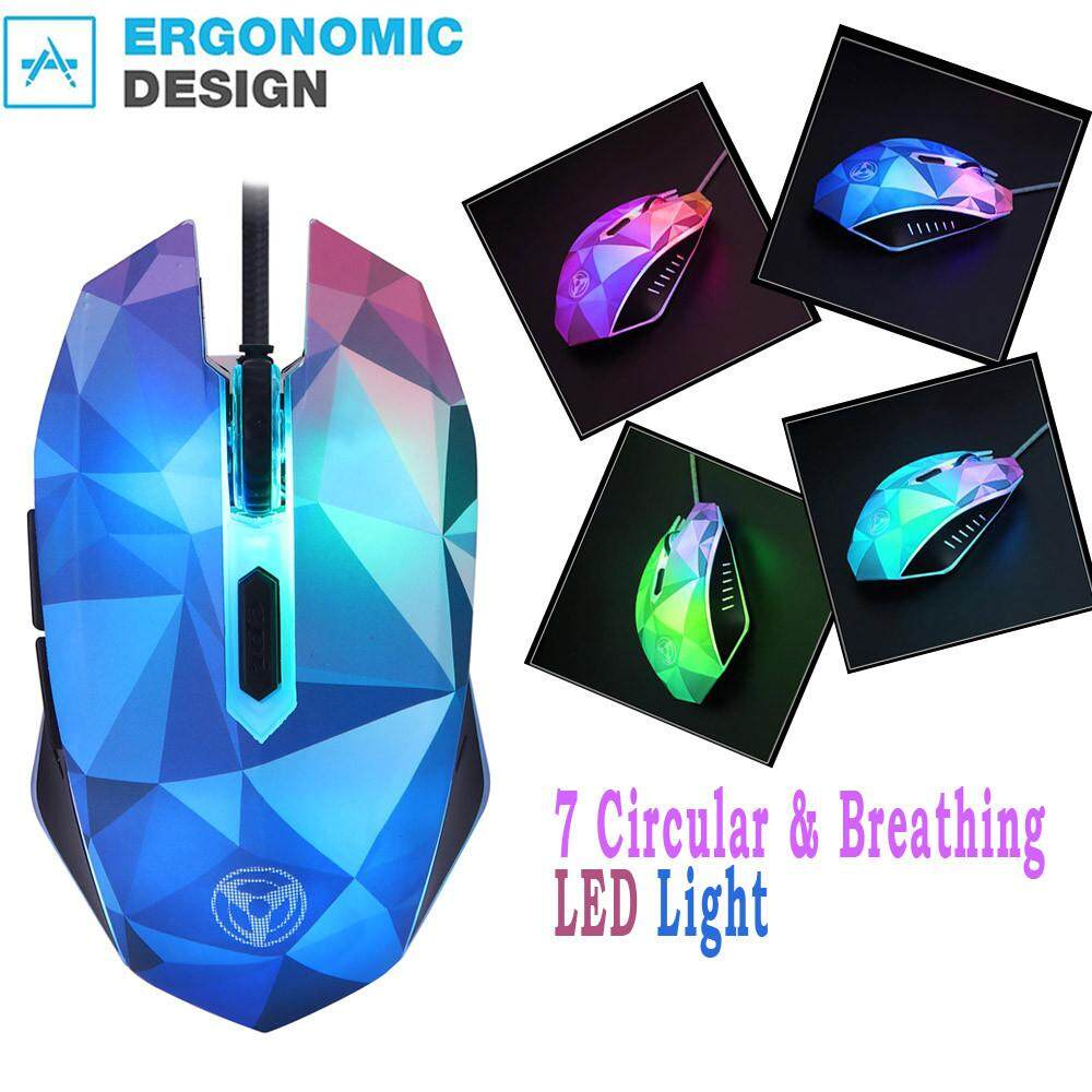 Bnenesmont The Diamond Version Of The Illusion MODAO 3200DPI Wired Mouse With 7 Circular Malaysia