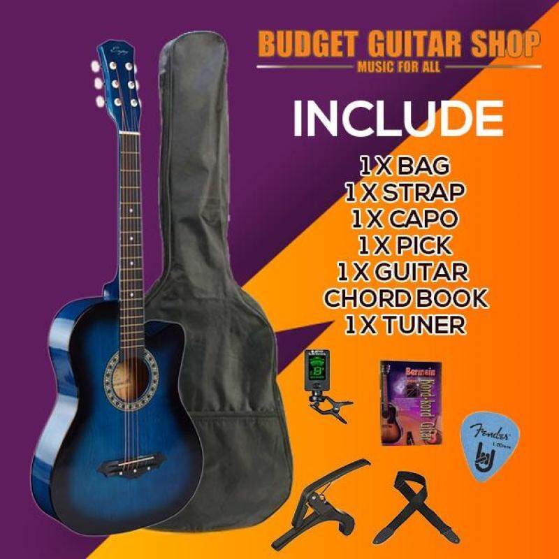 Enjoy 38 inch Acoustic Guitar Beginner Package for Beginner with Tuner Malaysia