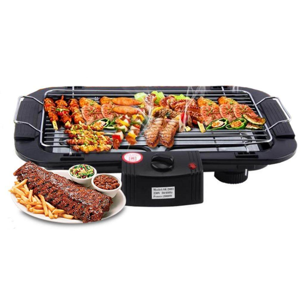Alpha Living Electric Barbeque Grill With Indicator Light Electronic Teppanyaki Msia Plug Barbecue