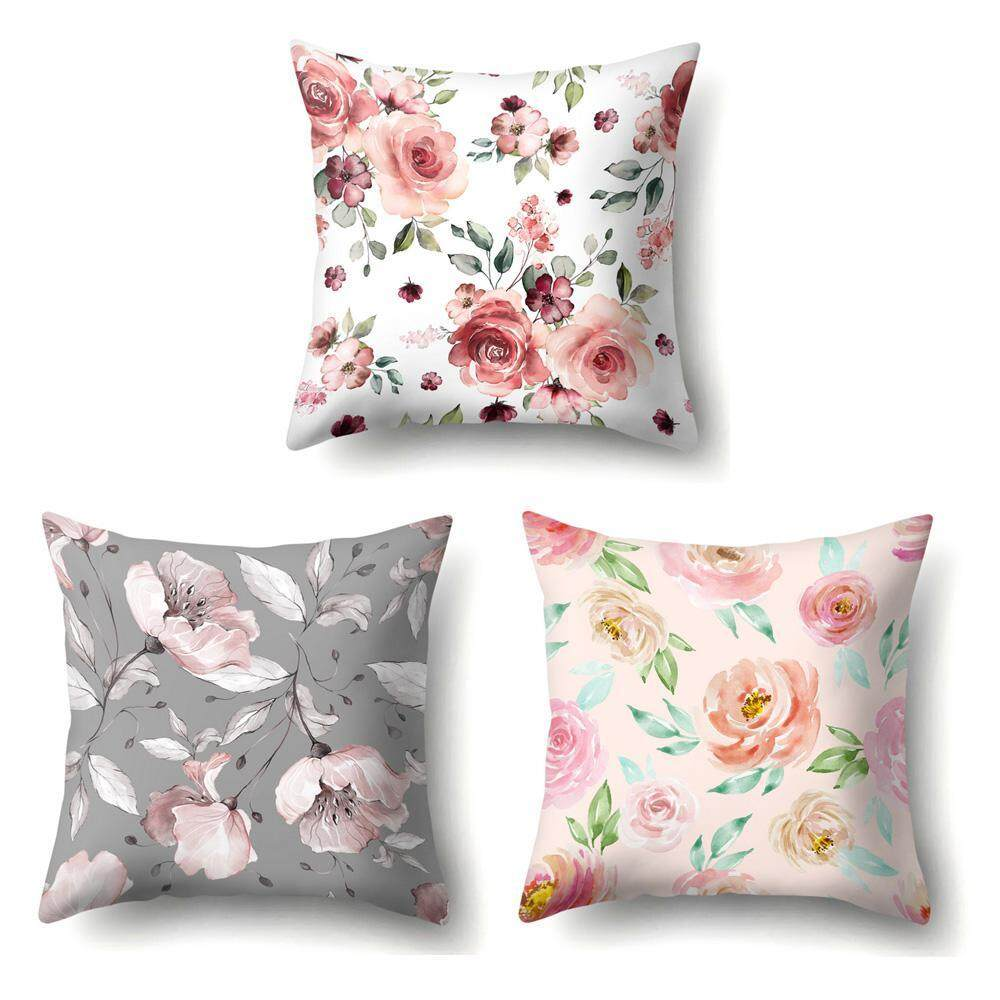 7f0db26ff377 SilyNew Set of 3 Pillow Covers Christmas, Home Decor Cotton Linen Throw Pillow  Covers,