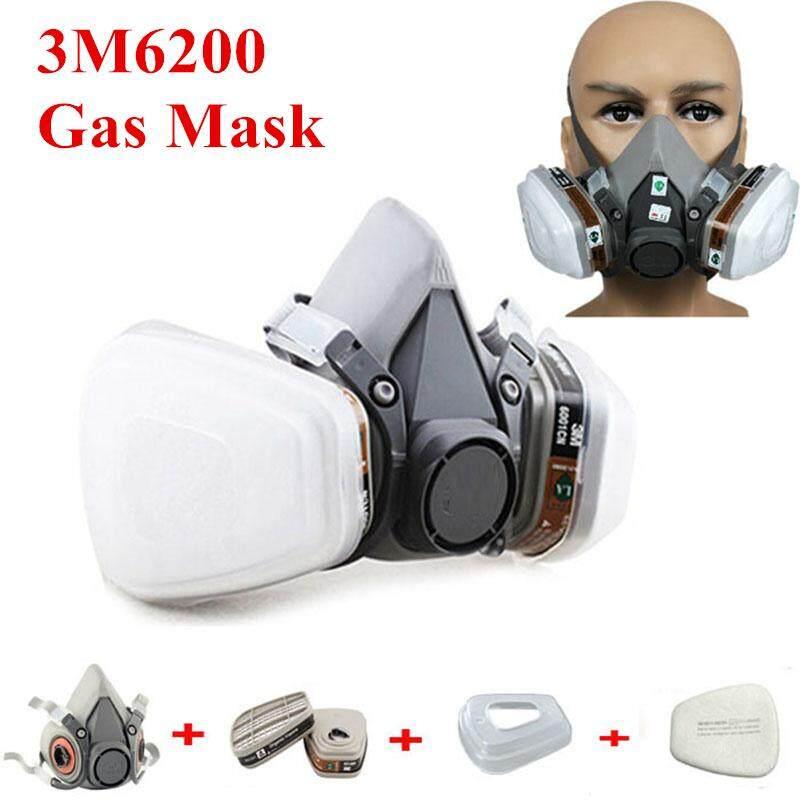 3M 6200 Anti-Dust Gas Mask Half Face Respirator Anti Organic Vapor Benzene PM2.5 Anti-Gas Multi-purpose Protection Mask