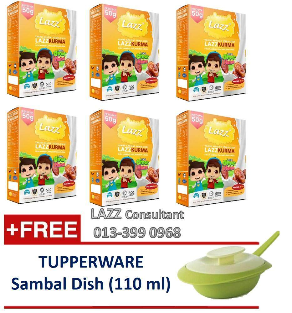 (free Tupperware Sambal Dish) Lazz Susu Kambing Kurma 550g - 6 Boxes By Fbm Online.