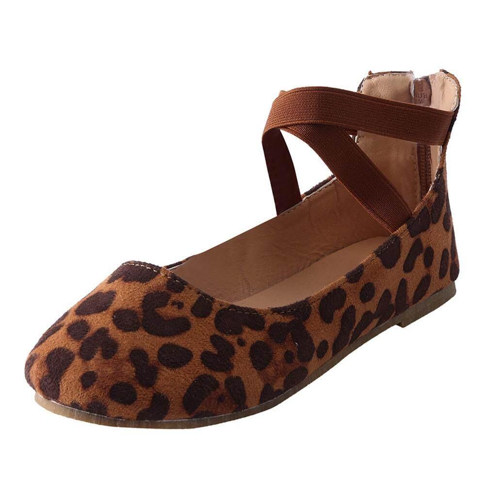 (audestore)_women Round Toe Shoes Shallow Mouth Flat Heel Zipper Single Shoes Beach Shoes   By Audestore.