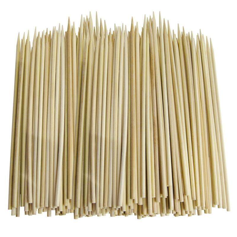 100 x SKEWERS IN BAMBOO (CARDED) Size 250mm