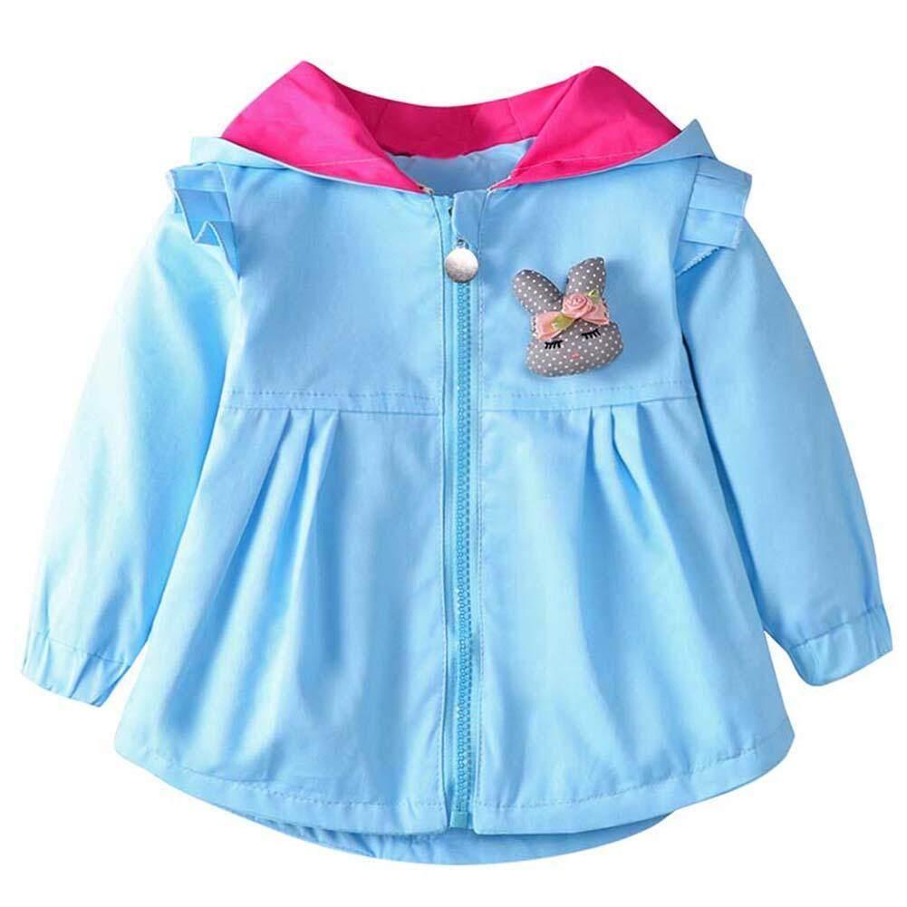 Autumn Girls Children Windproof Jackets Zipper Hooded Rabbit Ear Coat By Welcomehome.