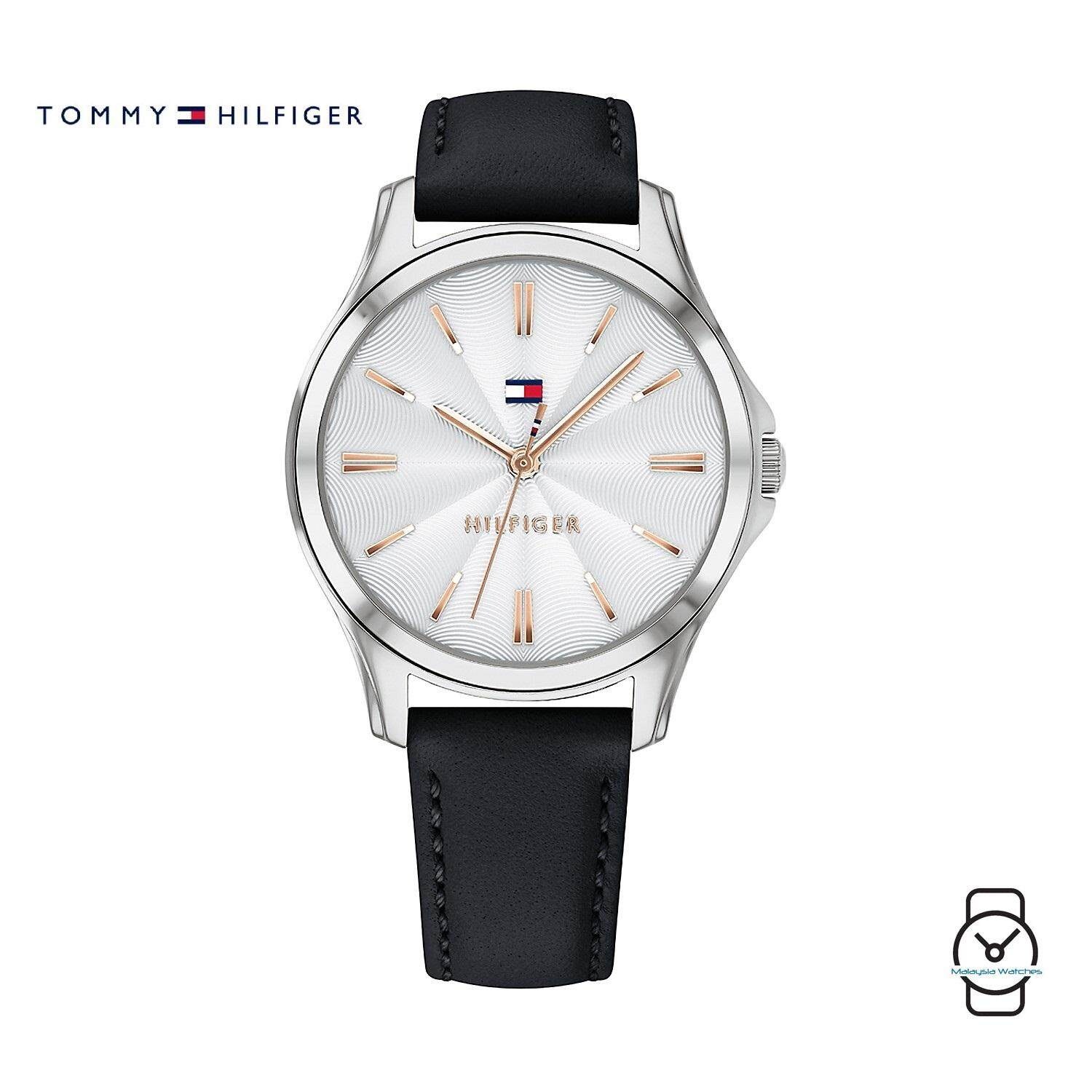 (100% Original) Tommy Hilfiger Women s 1781953 Casual Black Leather Watch  (Black) 135e4f97bb1