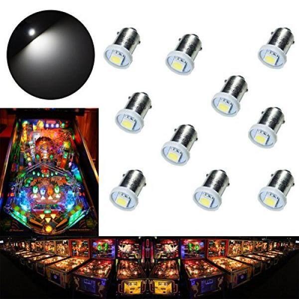 Pa 10pcs 1893 44 47 756 1847 Ba9s 1smd Led Wedge Pinball Machine Light Bulb White-6.3v By Buyhole.