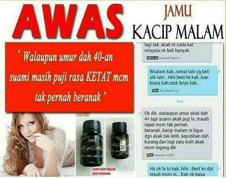 JAMU KACIP MALAM 100% original jamu TOP SELLING
