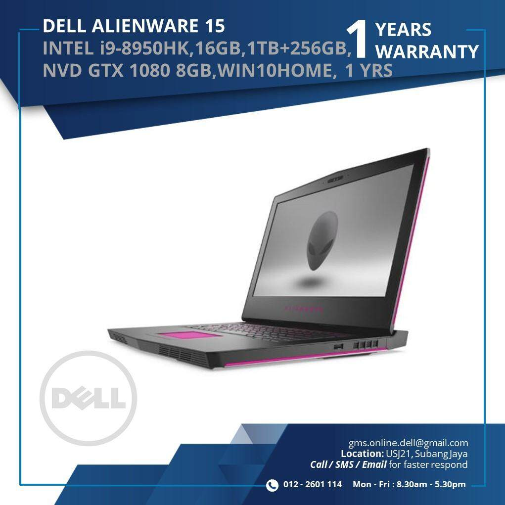 DELL ALIENWARE 15 R4 (INTEL I9-8950HK,16GB,1TB+256GB,NVD GTX1080 8GB ,WIN10HOME,1YRS) Malaysia