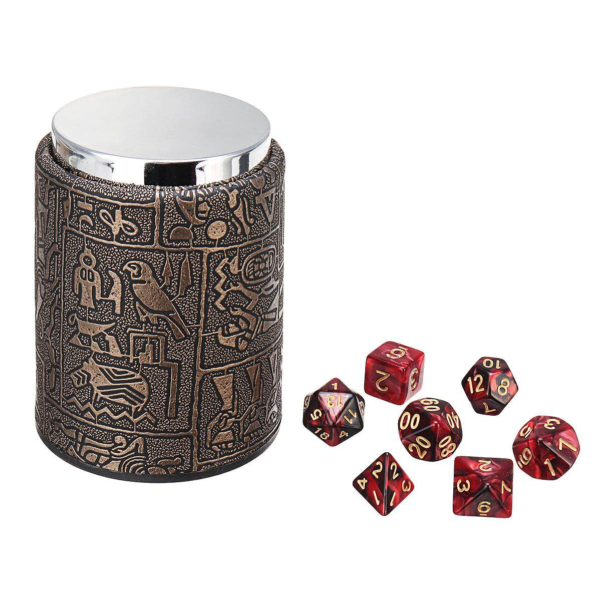 7-Die Polyhedral Dice For Dungeons And Dragons Dnd Rpg Mtg+dice Cup By Audew.