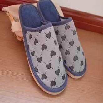 Love Heart Style Home Indoor Male Cotton Slippers By My Emart.