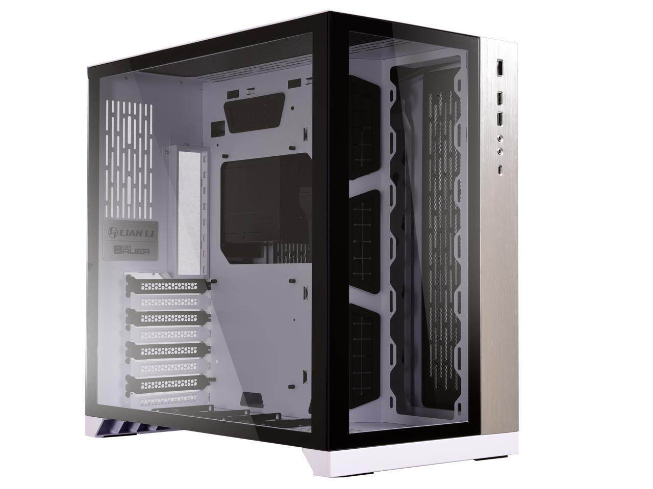 # LIAN LI PC-O11 Dynamic Tempered Glass # Black | White Malaysia